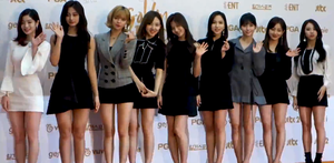 Twice on the red carpet of the Golden Disk Awards on January 10, 2018.png