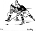 Two men playing hockey (line art) (PSF H-440003 (cropped)).png