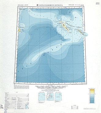 Commander Islands - Detailed map including the Commander Islands