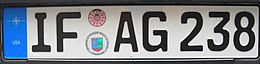 "U.S. Armed Forces in Germany license plate ""IF - AG 238"".jpg"