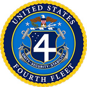United States Fourth Fleet - Image: U.S. Fourth Fleet badge Ver 2