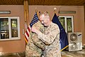 U.S. Marine Corps Gen. Joseph F. Dunford Jr., right, embraces Supreme Allied Commander Europe Air Force Gen. Philip M. Breedlove before the International Security Assistance Force and U.S. Forces-Afghanistan 140826-D-HU462-383.jpg