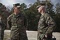 U.S. Marine Corps Staff Sgt. Billy J. Shinault, combat instructor, Delta Company, Infantry Training Battalion, School of Infantry-East (SOI-E) briefs Lt. Gen. Richard T. Tryon, commander, U.S. Marine Corps 131105-M-AX605-039.jpg