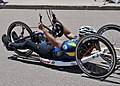 U.S. Navy Yeoman 1st Class Javier Rodriguez Santiago, assigned to the Transient Personnel Unit office at Joint Base Pearl Harbor-Hickam, Hawaii, rolls to the finish line in ninth place with a time of 26-39 130512-N-DT940-122.jpg