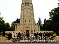 U.S. and French dignitaries pose for a photo in front of the memorial chapel at the Aisne-Marne American Cemetery and Memorial in Belleau, France, May 26, 2013 130526-M-XI134-019.jpg