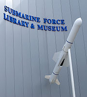UGM-84 Harpoon at Submarine Force Museum entrance