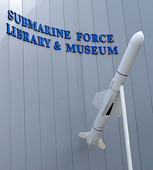 Submarine Force Library and Museum - A UGM-84 missile outside the entrance