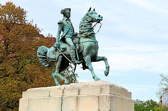 Washington Circle - Sculpture of George Washington by Clark Mills