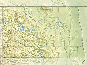 Map showing the location of Theodore Roosevelt National Park