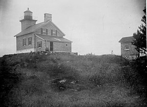 Copper Harbor Light - Original Lighthouse, U.S. Coast Guard Archive Photo