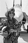 USN Female Fighter Pilot Lt. Tammie Jo Shults (Bonnell) poses in front of her F-18 Hornet aircraft.jpg