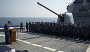 USS BENFOLD CHANGE OF COMMAND OCT 2012
