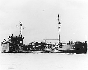 USS Calamus (AOG-25) Underway off San Francisco, California, c. March 1946