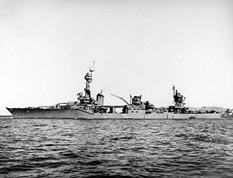 USS Chester (CA-27) - Image: USS Chester (CA 27) Oct 1943