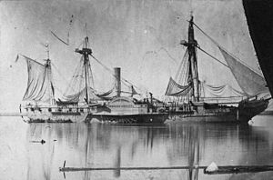 Home Squadron - Image: USS Mississippi 1863