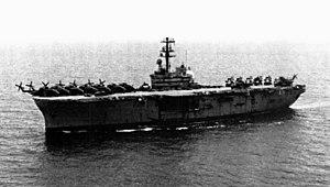 USS Okinawa (LPH-3) off Vietnam 1975