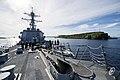 USS Preble exits Apra Harbor, Guam. (9192806322).jpg