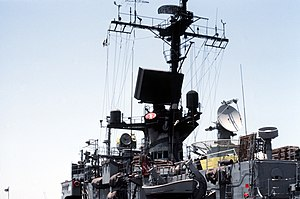 Brooke-class frigate - Image: USS Ramsey (FFG 2) radar and electronic equipment