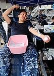 USS Ronald Reagan sailor donates blood 130807-N-TO979-088.jpg