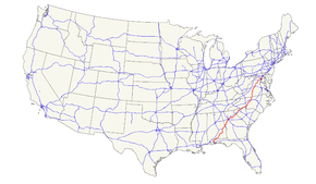 US Route Wikipedia - Us route 29 map