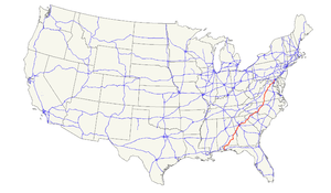 U.S. Route 29 - Image: US 29 map
