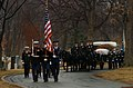 US Navy 040224-N-6213R-009 Members of the U.S. Army's 3rd Infantry Old Guard caisson platoon, parade the black flag draped casket of Adm. Thomas H. Moorer.jpg