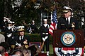 US Navy 041105-N-2383B-052 Chief of Naval Operations (CNO), Adm. Vern Clark, delivers remarks during the retirement ceremony for Director Naval Reactors, Adm. Frank Skip Bowman.jpg