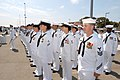 US Navy 050730-N-3672K-081 Sailors assigned to the Navy's newest Arleigh Burke-class destroyer, USS Halsey (DDG 96), stand at attention during the ship's commissioning ceremony.jpg