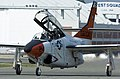 US Navy 050802-N-0295M-018 A T-2C Buckeye, assigned to the U.S. Naval Test Pilot School, taxis to the active runway prior to a training flight from Naval Air Station Patuxent River, Md.jpg