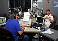 US Navy 070418-N-2903M-001 Commander, Carrier Strike Group Two, Rear Adm. Michael C. Vitale discusses the status of the Navy with WHAS morning host Tony Cruise.jpg