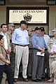 US Navy 070512-N-3642E-047 Sen. Mel Martinez and the Secretary of the Navy (SECNAV), the Honorable Dr. Donald C. Winter, listen to a brief about the safe and humane care of detained enemy combatants housed in Camp Delta.jpg