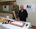 US Navy 080117-N-2468S-001 Capt. Van Dobson, commanding officer of Naval Construction Battalion Center (NCBC) Gulfport, and the Rev. Dr. Bernice Powell-Jackson, cut the cake during a Martin Luther King Jr. ceremony at the NCBC.jpg