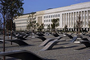 Pentagon Memorial - A photo of the monument, shortly before it opened