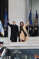 US Navy 090118-N-1928O-128 President-elect Barack Obama and Michelle Obama wave to the crowd gathered at the Lincoln Memorial.jpg