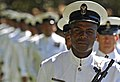 US Navy 090407-N-8273J-109 Sailors stand ready for inspection during a Guard of Honor ceremony.jpg