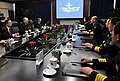 US Navy 090418-N-8273J-105 Chief of Naval Operations (CNO) Adm. Gary Roughead speaks with Adm. Wu Shengli, Commander-in-Chief of the People's Liberation Army Navy, during a visit to PLA Navy headquarters in Beijing.jpg