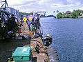 US Navy 090424-N-XXXXP-005 Naval Sea Systems Command pollution response experts supporting the U.S. Coast Guard conduct a dive to assess the remaining petroleum products aboard the ex-USS Chehalis (AOG-48).jpg