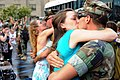 US Navy 090809-N-4740L-003 Family members greet Sailors assigned to Naval Mobile Construction Battalion (NMCB) 11 as they return home from a deployment.jpg