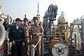 US Navy 100206-N-8335D-192 Ensign Kevin Lewman gives Royal Thai Navy officers a tour of the mine counter-measures ship USS Patriot (MCM 7) during exercise Cobra Gold 2010.jpg