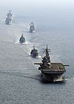 US Navy 100208-N-9418A-549 Ships transit in formation in the Gulf of Thailand during exercise Cobra Gold 2010.jpg