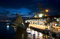 US Navy 110124-N-7488A-240 USS Carl Vinson (CVN 70) is moored alongside USS Bunker Hill (CG 52) in Port Klang Malaysia.jpg