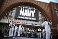 US Navy 110416-N-YM440-079 The U.S. Navy blues band, Freedom, performs before a Dallas-Mavericks playoff game at American Airlines Center.jpg