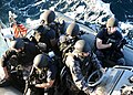 US Navy 120131-N-PK218-002 A visit, board, search and seizure team mans a rigid-hull inflatable boat aboard the guided-missile cruiser USS Vicksbur.jpg