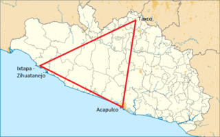 Triangle of the Sun Place in Guerrero, Mexico