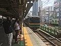 Ueno-Tokyo Line train Shimbashi stn - June 3 2019.jpeg