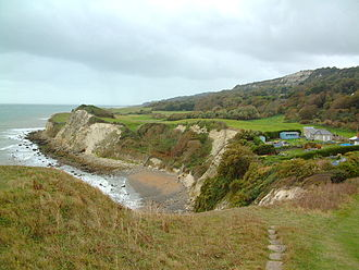 Undercliff (Isle of Wight) - The Undercliff, Isle of Wight, looking westward at Woody Bay
