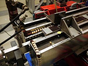 Free-electron laser - The undulator of FELIX.