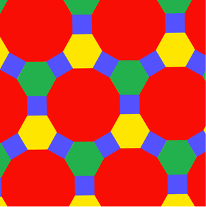 Truncated trihexagonal tiling - Image: Uniform polyhedron 63 t 012b