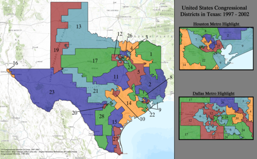 United States Congressional Districts in Texas, 1997–2002.tif