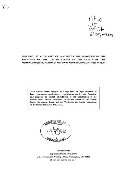 File:United States Statutes at Large Volume 105 Part 3.djvu